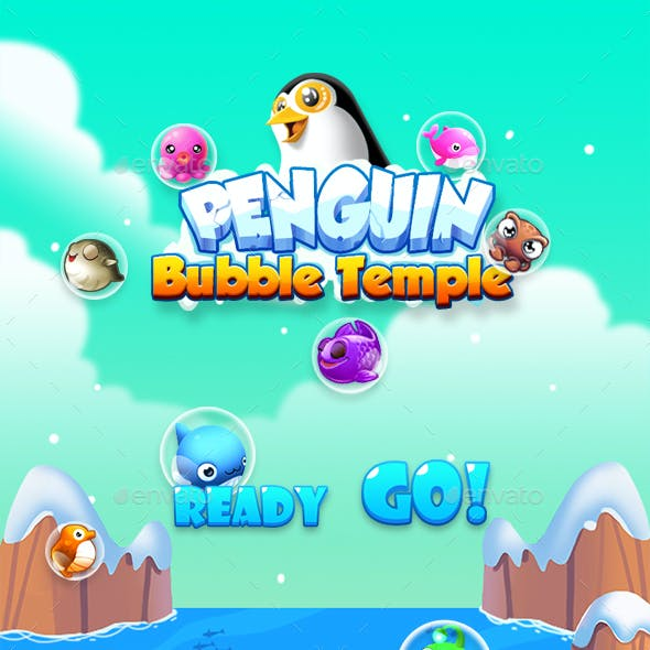 Bubble Shooter Unity Asset Reskin: Penguin