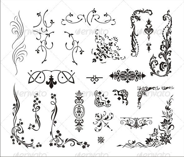 Various Ornaments - Borders Decorative