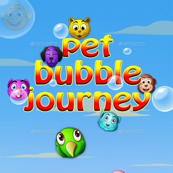 Bubble Shooter Unity Asset Reskin: Pet