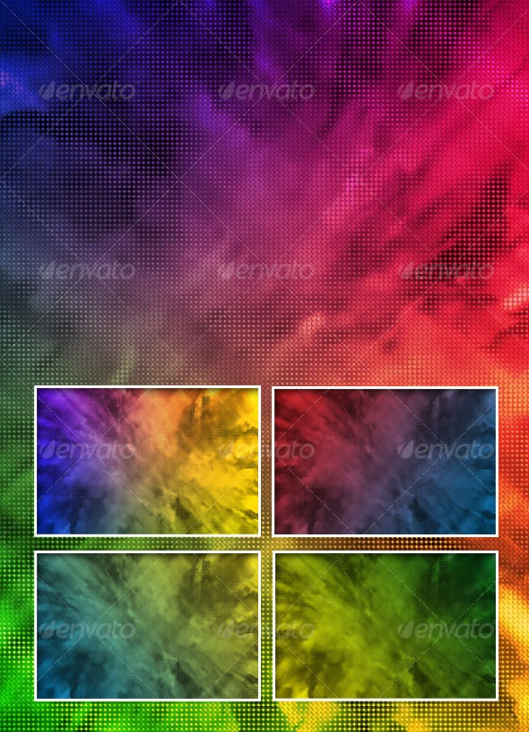 Dotted Fractal Background - Abstract Backgrounds
