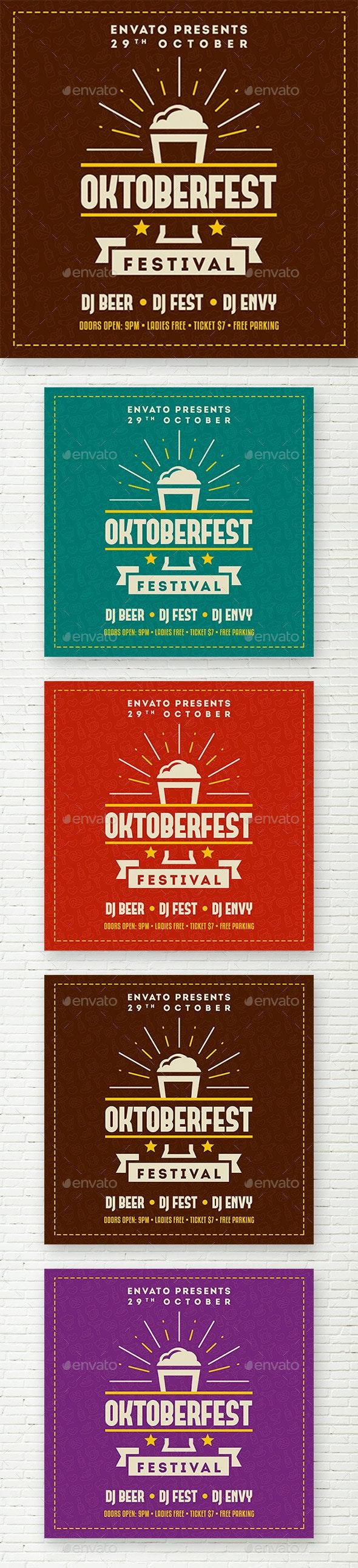 Oktoberfest Instagram Banner - Social Media Web Elements