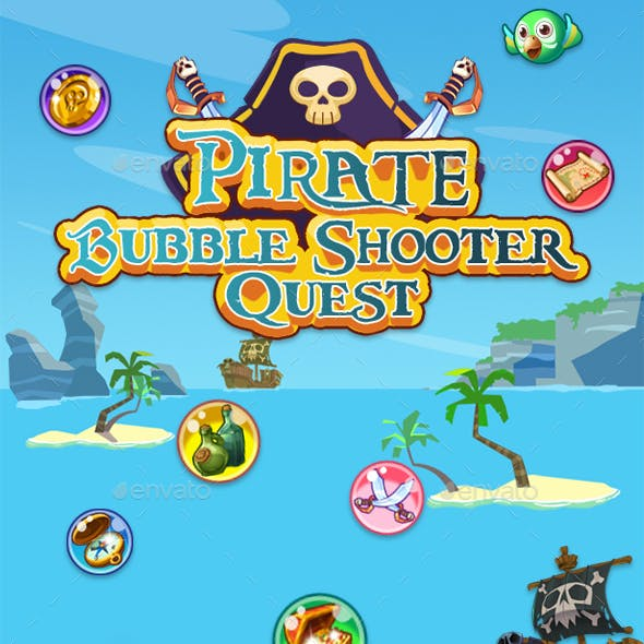 Bubble Shooter Unity Asset Reskin: Pirate