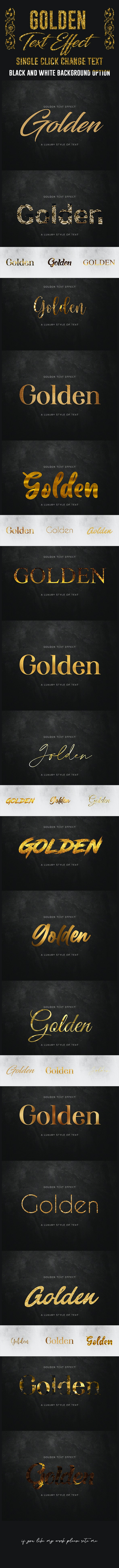 Gold Text Effect - Text Effects Actions