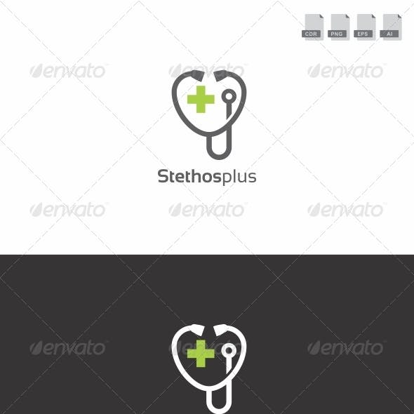 Stethos Plus - Medical Logo