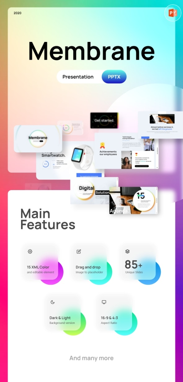 Membrane Creative PowerPoint Template Fully Animated - Creative PowerPoint Templates