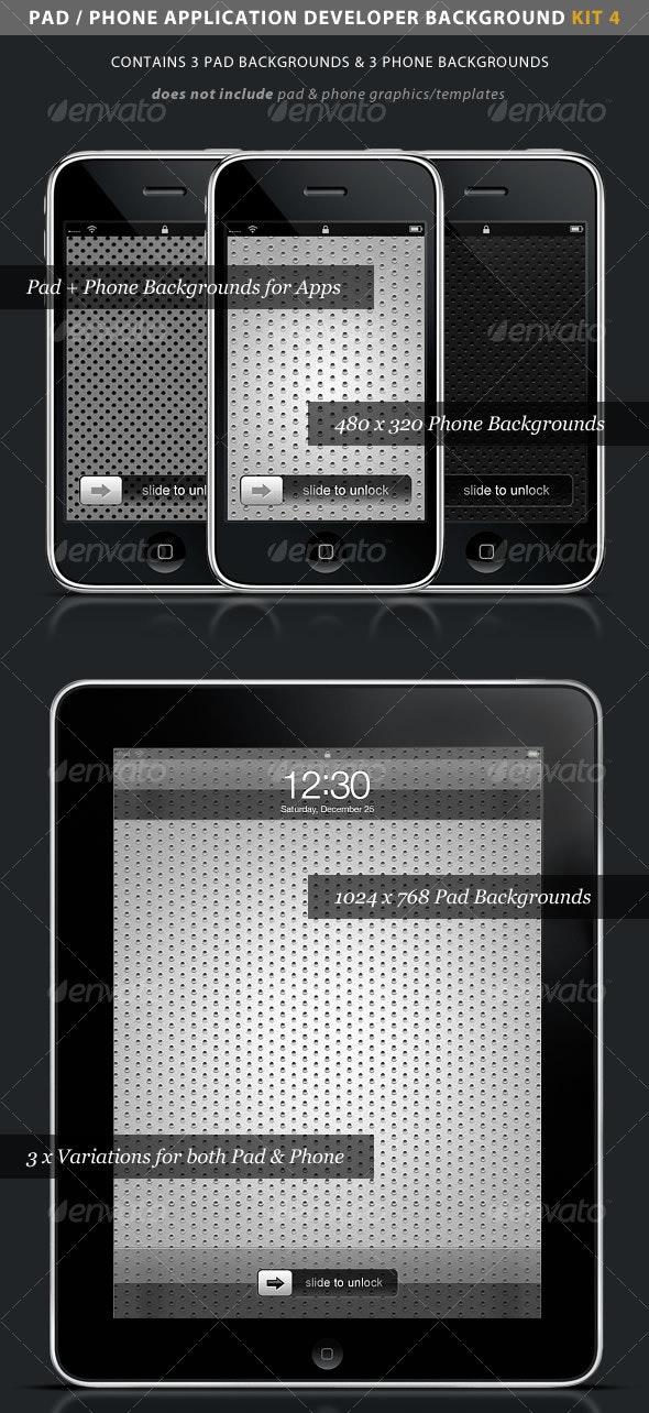 iPad / iPhone App Developer Kit 4 > Metal - Backgrounds Graphics