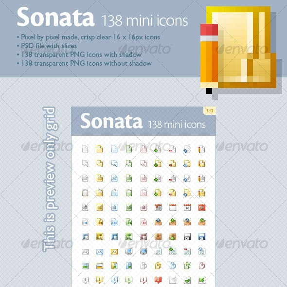Sonata mini icons (138 icons)