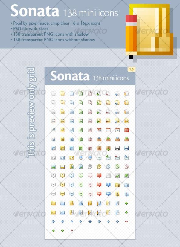 Sonata mini icons (138 icons) - Web Icons