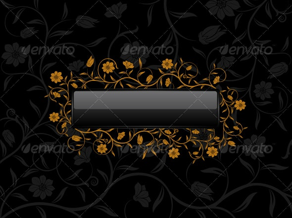 Floral banner for sample text - Flowers & Plants Nature