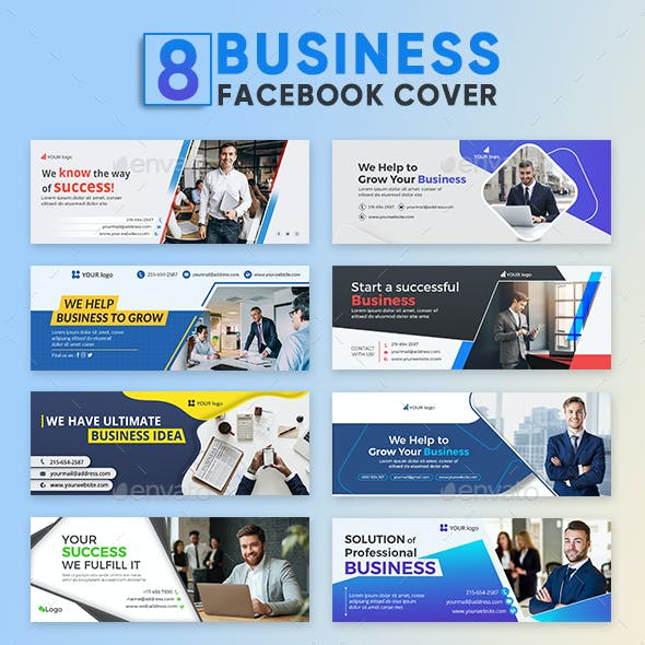 8 Business Facebook Covers Template