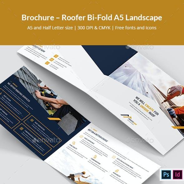 Brochure – Roofer Bi-Fold A5 Landscape