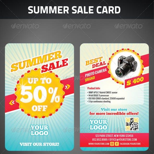 Summer Sale Card
