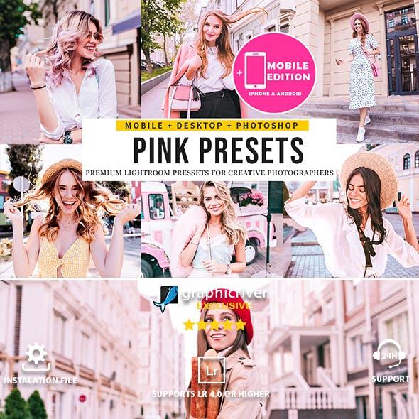 Pink Blogger Lightroom Presets