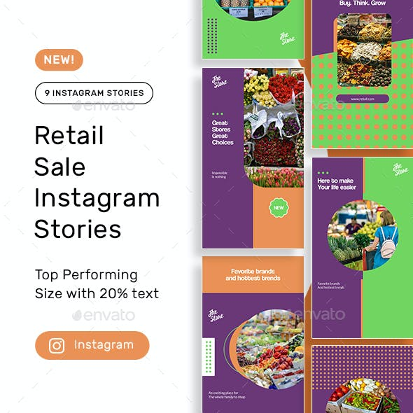 Retail Products Instagram Stories