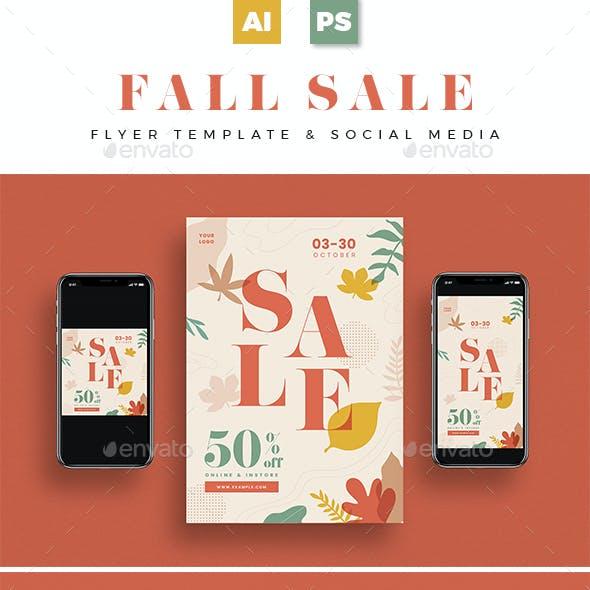 Fall Sale Flyer + Social Media