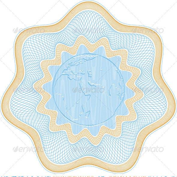 Engraved Globe Rosetta