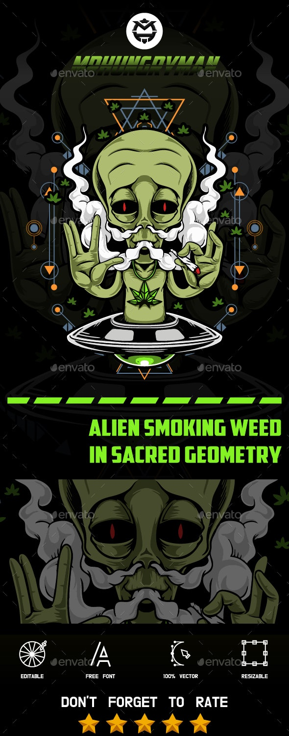Alien Smoking Weed - Miscellaneous Characters