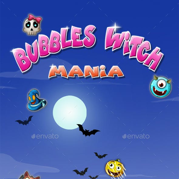 Bubble Shooter Unity Asset Reskin: Witches