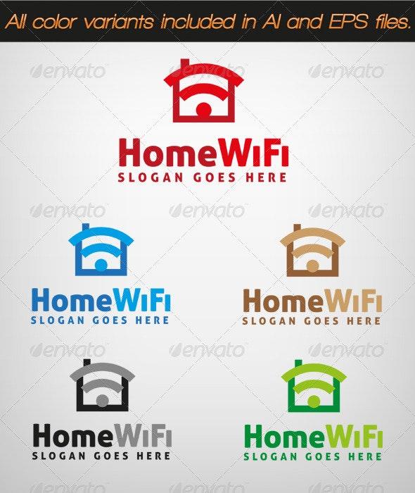 HomeWiFi Logo - Objects Logo Templates