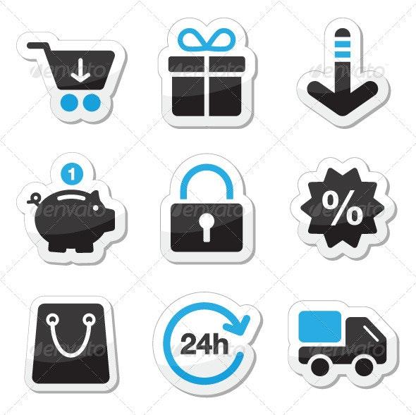 Web / Internet Icons Set - Shopping - Commercial / Shopping Conceptual