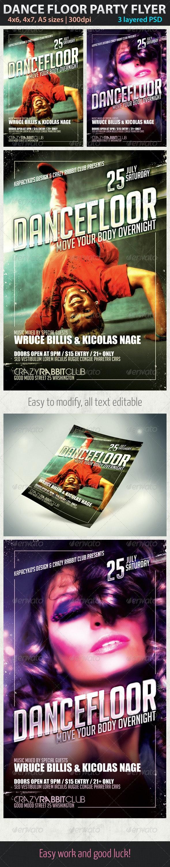 Dance Floor Party Flyer - Clubs & Parties Events