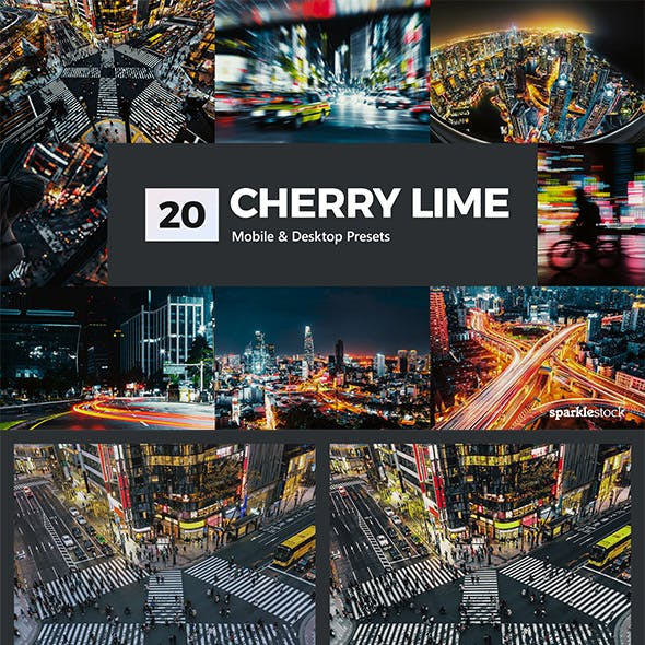 20 Cherry Lime Lightroom Presets and LUTs