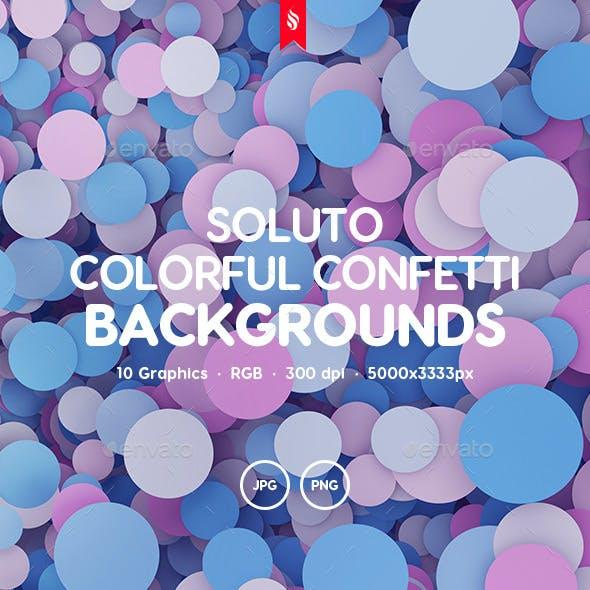 Soluto - Multicolored Confetti Background Set