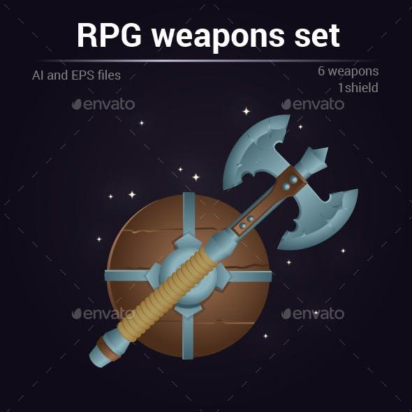 RPG Vector Set of Weapons