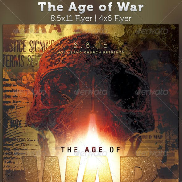 The Age of War Church Flyer Template