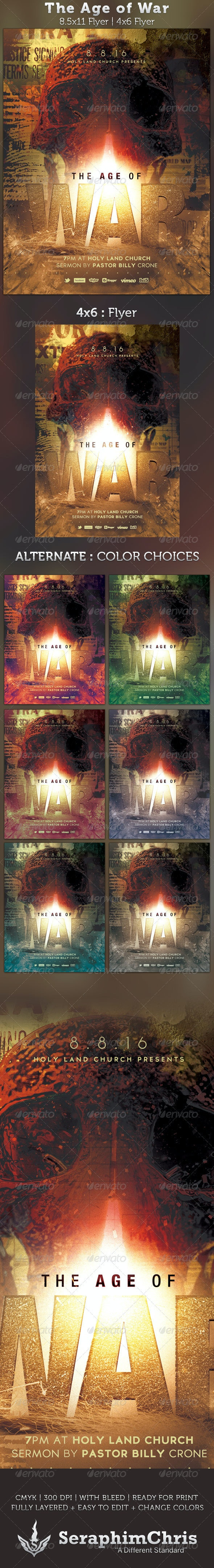 The Age of War Church Flyer Template - Church Flyers
