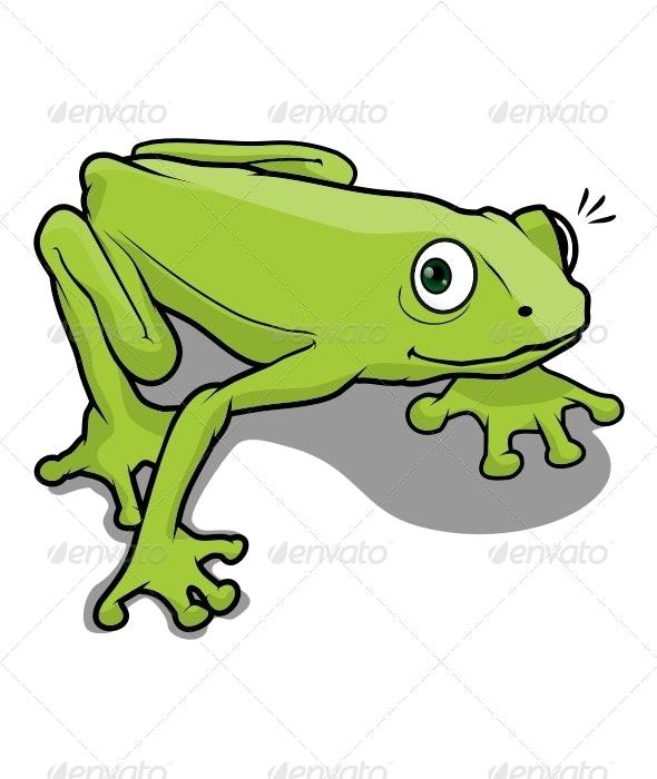 Character frog vector - Animals Characters