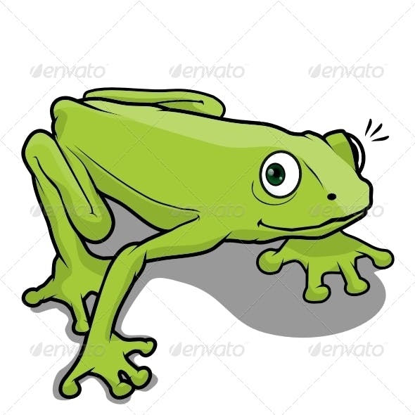 Character frog vector