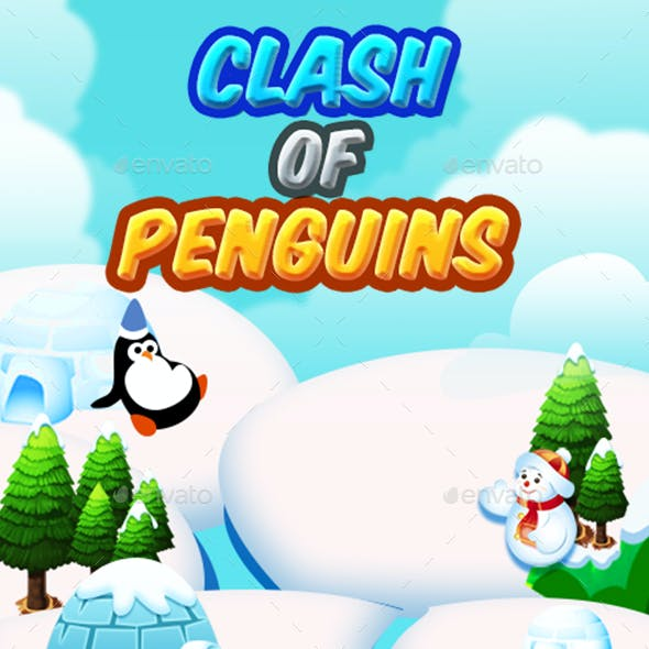 Match 3 Unity Asset Reskin: Penguins