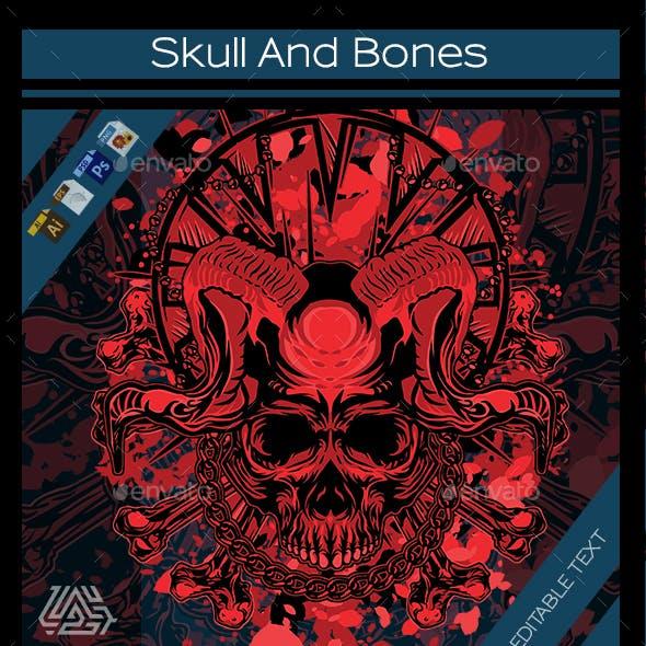 Skull And Bones T-shirt Design