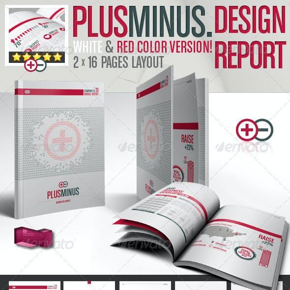 Corporate Brochure PLUSMINUS A4 // 2 Color Version