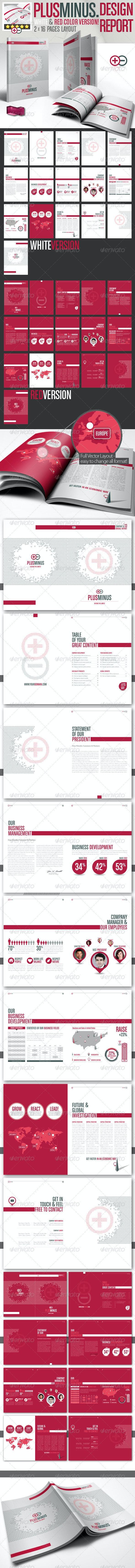 Corporate Brochure PLUSMINUS A4 // 2 Color Version - Corporate Brochures