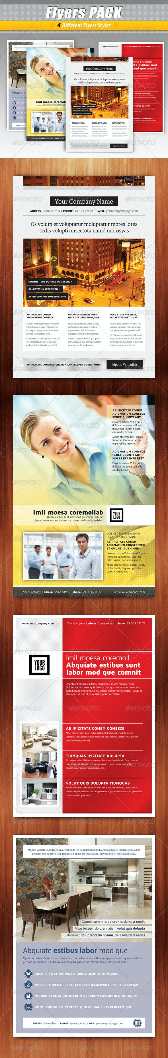 Flyers PACK 4 in 1 - Corporate Flyers