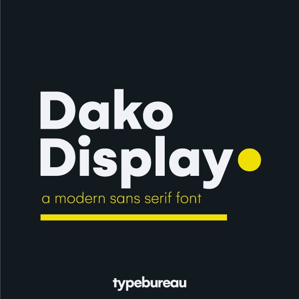 Dako Display Font