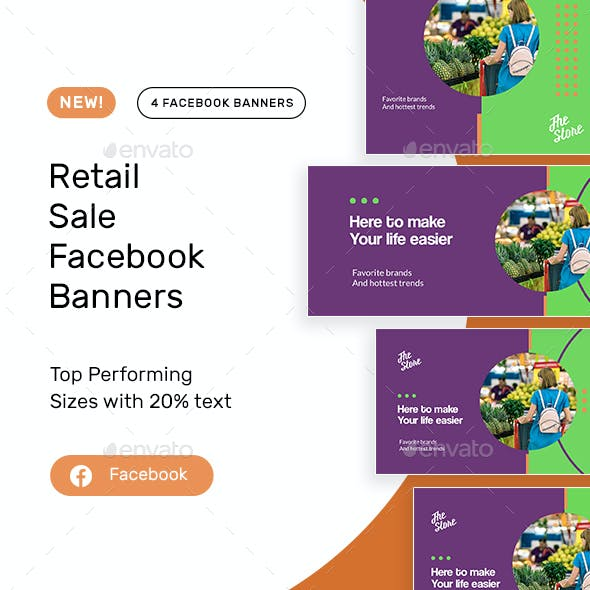 Retail Sale Facebook Banners