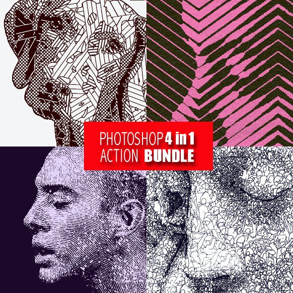 Photoshop 4in1 Actions Bundle V6