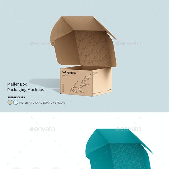 Mailing Box Packaging Mockups