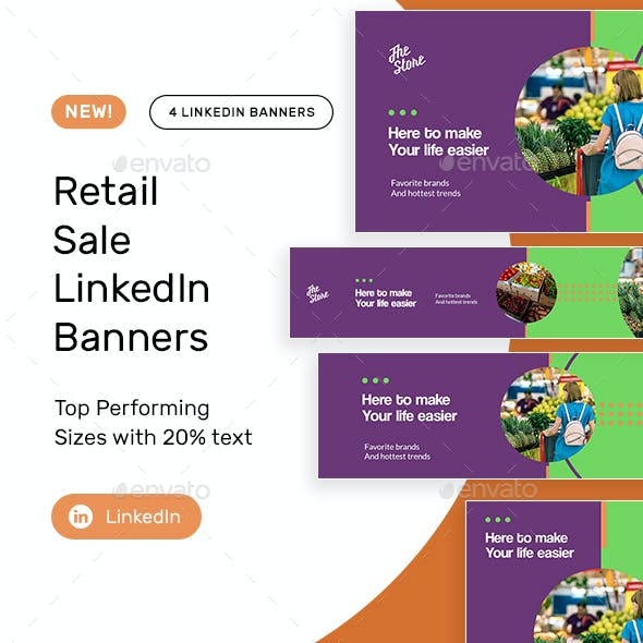 Retail Products LinkedIn Banners