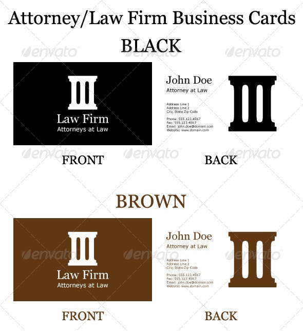 Attorney/Law Firm Business Cards - Industry Specific Business Cards