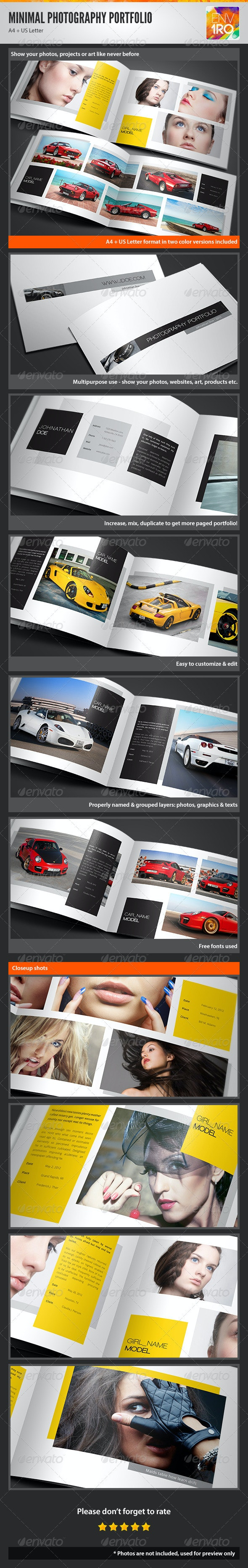 Minimal Portfolio Brochure, Creative Booklet - Portfolio Brochures
