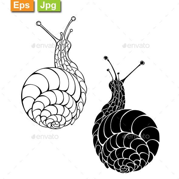Two Monochrome Snails