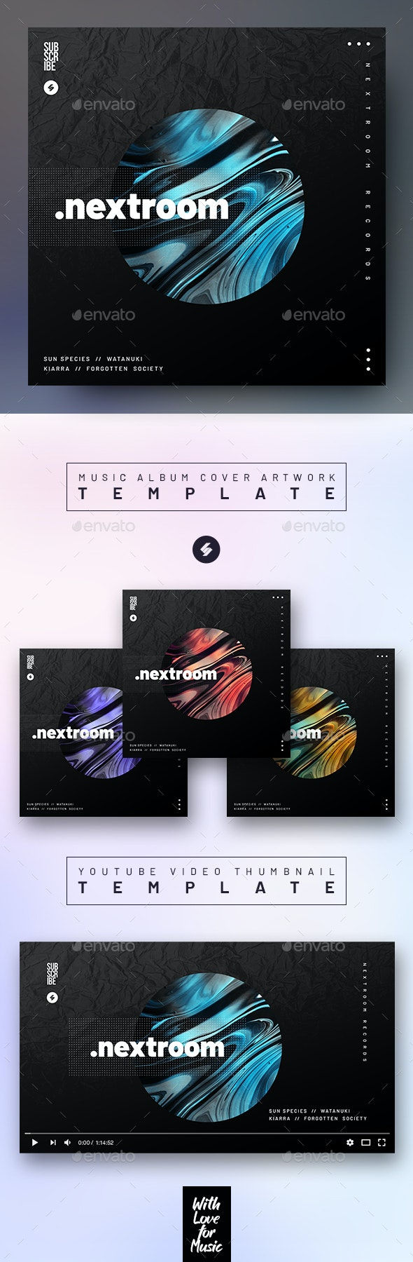 Nextroom – Music Album Cover Artwork / Video Thumbnail Template - Miscellaneous Social Media