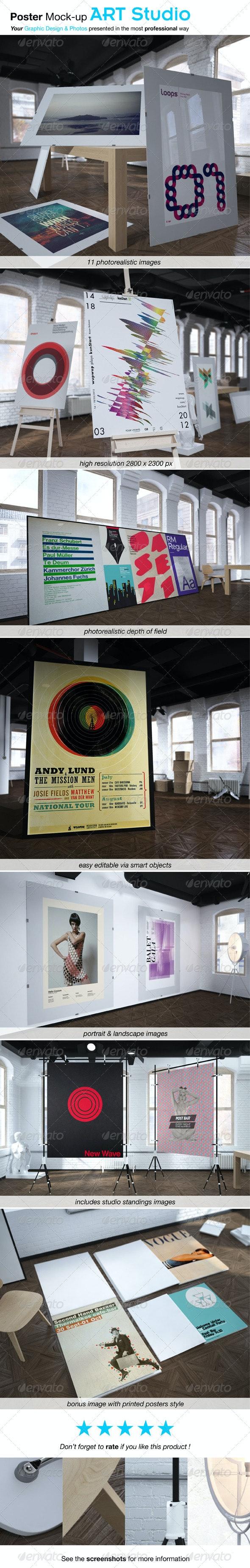 Poster Mock-up ART STUDIO - Posters Print