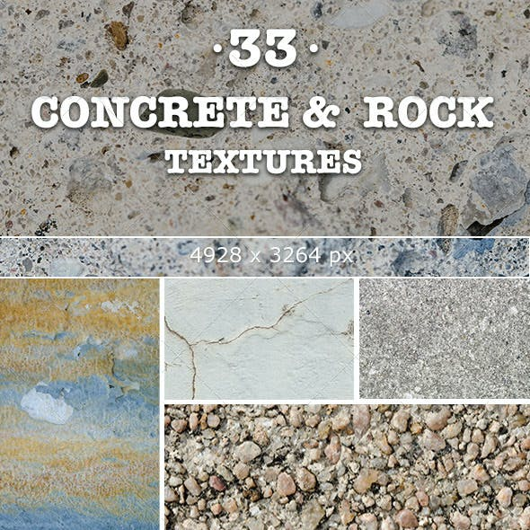 33 Concrete and Rock Textures