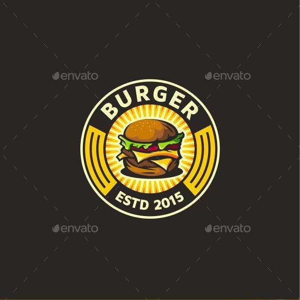 Burger Logo Template