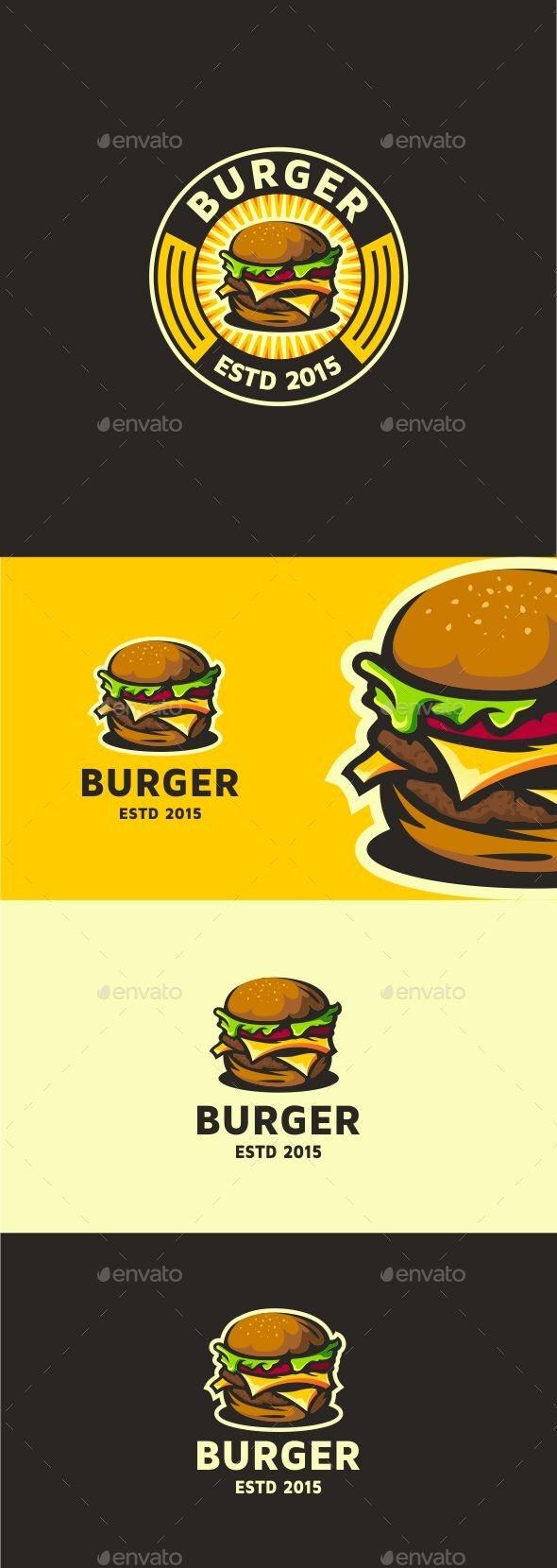 Burger Logo Template - Restaurant Logo Templates